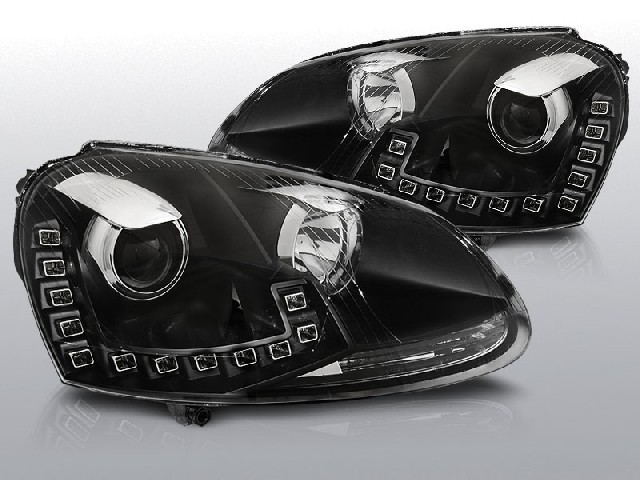Scheinwerfer Tagfahrlicht VW GOLF 5 10.03-09 LED DRL BLACK