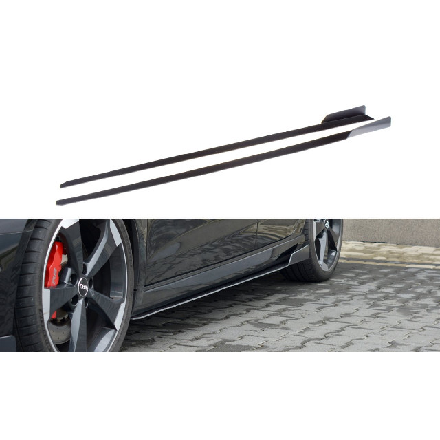 Sport Seitenschweller Ansatz Cup Leisten V.2 für Audi RS3 8V FL Sportback