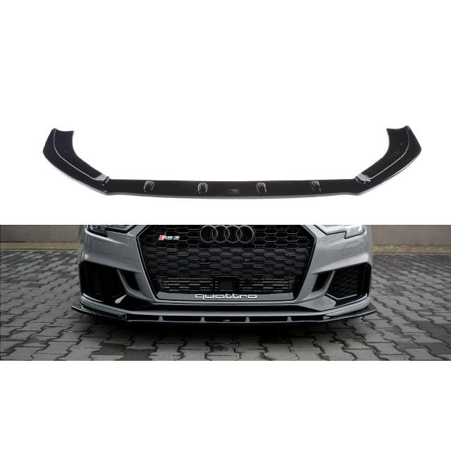 Cup Spoilerlippe Front Ansatz V.1 für Audi RS3 8V FL Limousine schwarz matt