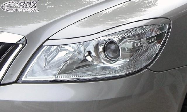 Scheinwerferblenden Skoda Octavia 2 / 1Z Facelift 2008+ Böser Blick