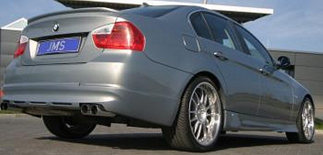 JMS Racelook Heckansatz BMW 3er E90/91 Lim./Touring (für 2-Rohr und 4-Rohr Auspuff)