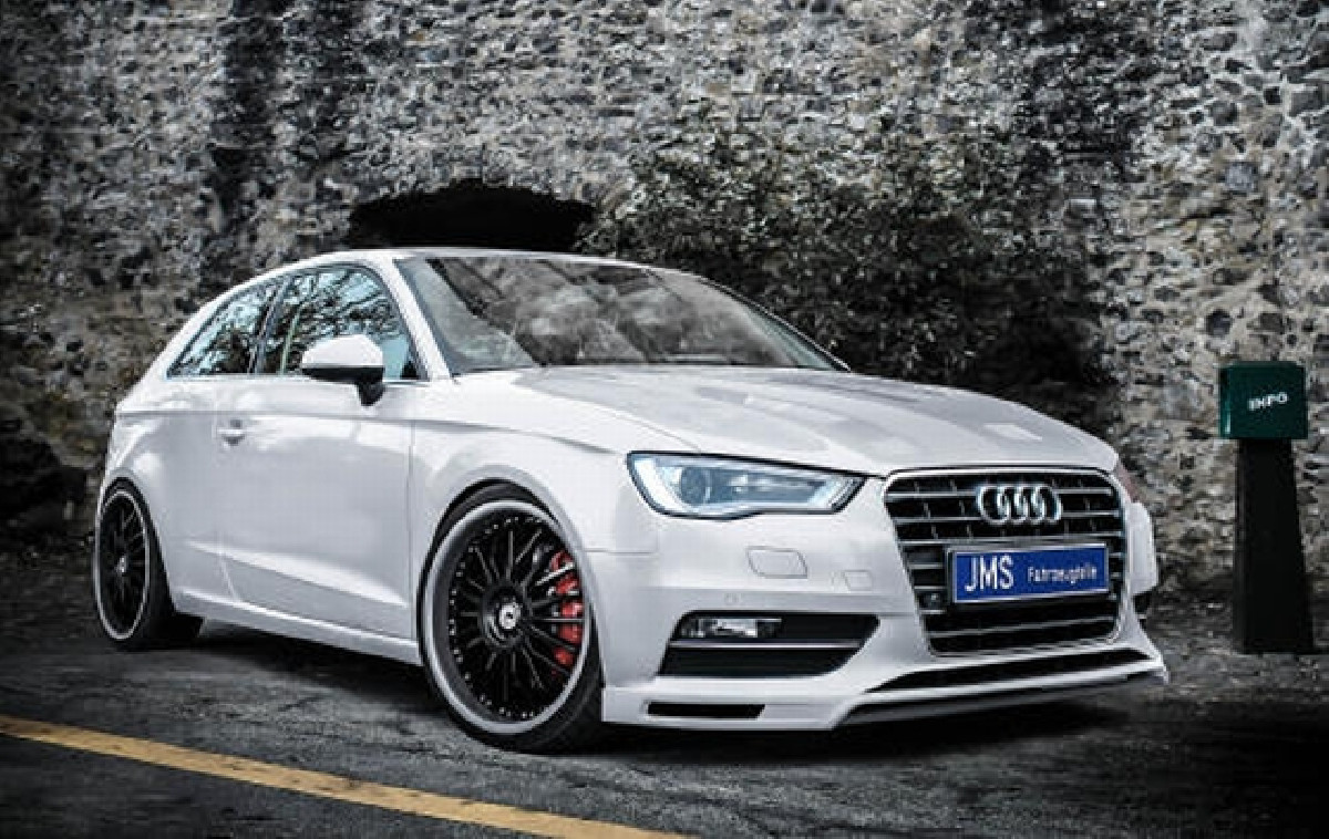 JMS Racelook exclusiv Line Frontlippe Audi A3 8V 3+5-trg ohne S-Line