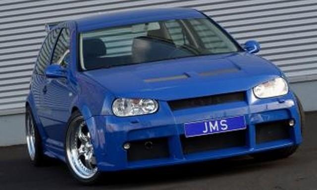 JMS Motorhaube Racelook inkl. Böser Blick (ohne Ausschnitt für VW Zeichen) VW Golf 4