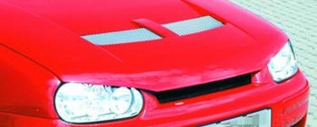 JMS Motorhaube Racelook incl. Entlüftung und böser Blick VW Golf 3