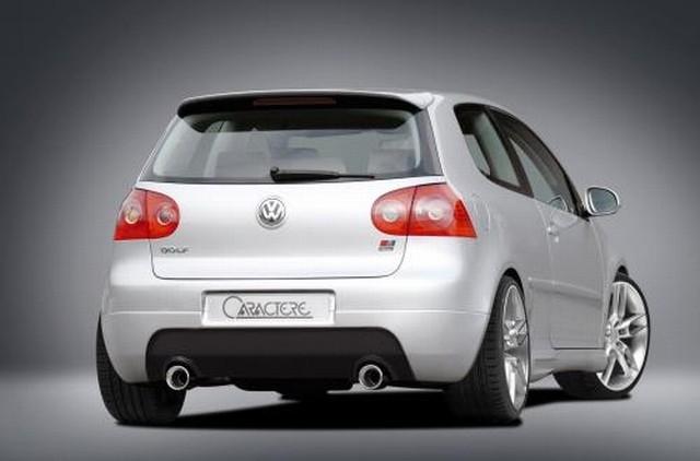 Heckansatz inklusive 2 Endschalldämpfer Caractere Tuning VW Golf 5