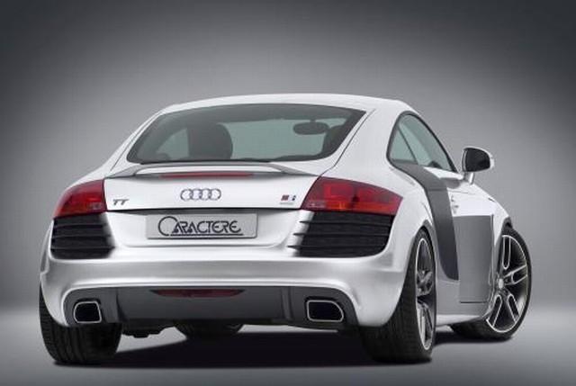 Caractere Heckstoßstange Audi TT 8J mit PDC, incl. 2 Endschalldämpfer