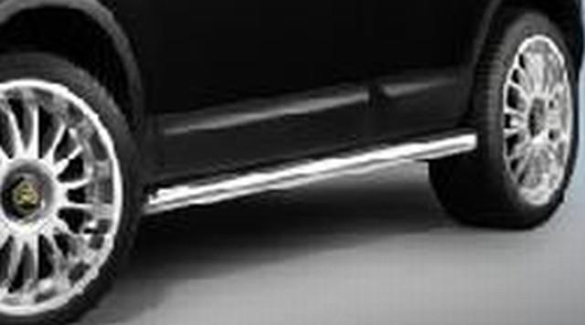 Nissan Qashqai (06-10) Cobra Offroad Edelstahl Schwellerrohr mit Trittflächen Ø 80mm