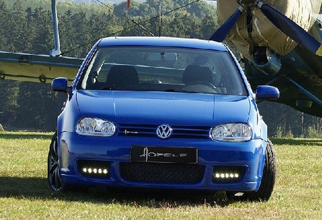 Hofele Frontstoßstange R32-Look ohne LED Tagfahrleuchten VW Golf 4
