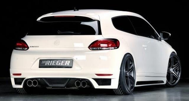 Heckansatz für Doppelendrohr links/rechts Rieger Tuning VW Scirocco III