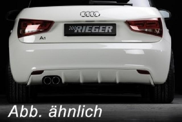 Rieger Heckeinsatz Audi A1 für Original ein Endrohr links