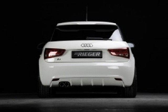 Rieger Heckeinsatz Audi A1 für Original Doppelendrohr links