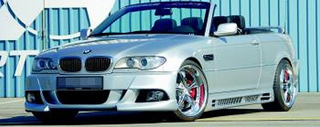 Rieger Frontstoßstange BMW 3er E46 Coupe/Cabrio