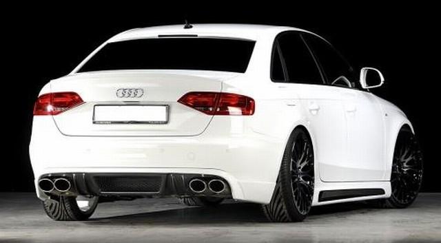 Rieger Carbon-Look Heckansatz Audi A4 B8 ab 07