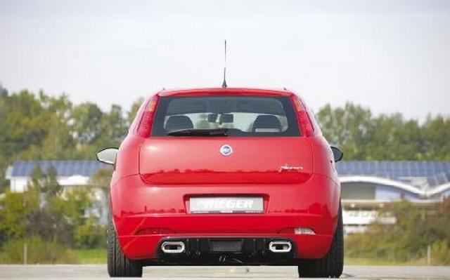 Rieger Heckansatz Fiat Grande Punto aus ABS Carbon-Look
