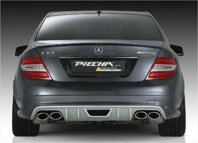 Piecha AMG Styling Heckdiffusor Mercedes C-Klasse W204 Limousine