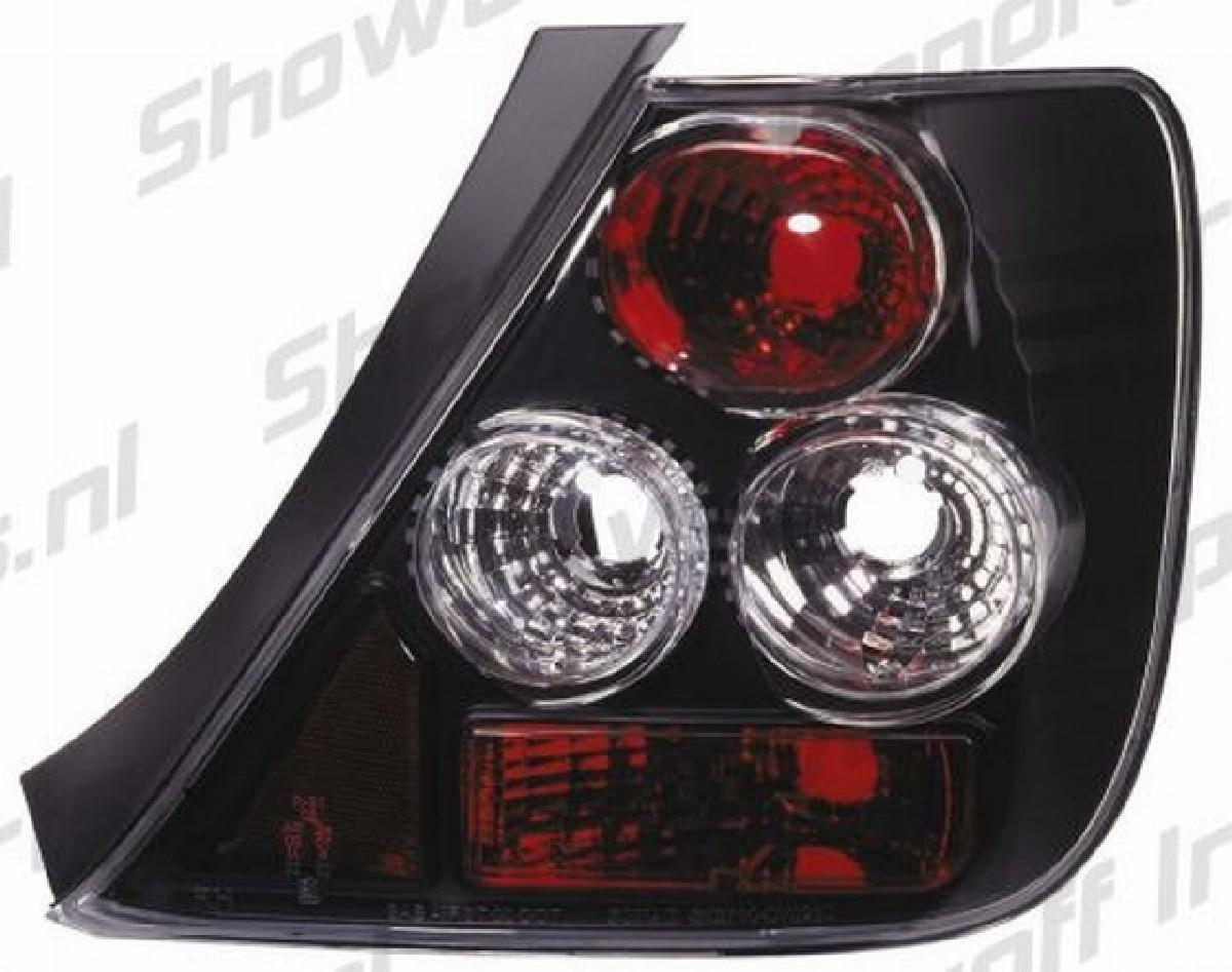 JDM G4 Rückleuchten Honda Civic 3D 01+ Schwarz
