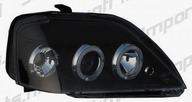 Angel Eyes Scheinwerfer Dacia Logan 05+ Schwarz