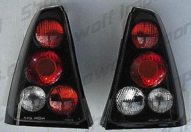 Rückleuchten Dacia Logan 05+ Schwarz