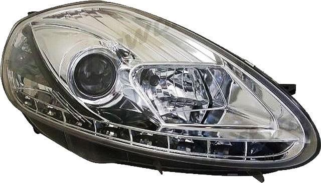LED Tagfahrlicht Scheinwerfer Fiat Grande Punto 05-07 R8 Style Chrom