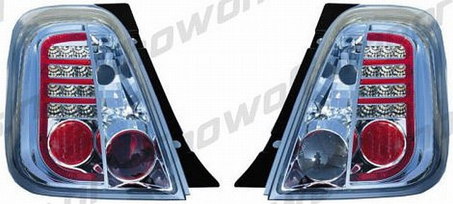 LED Rückleuchten Fiat 500 ab 07 Chrom