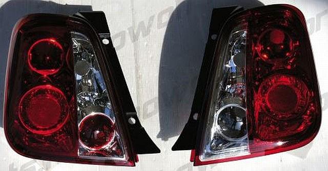 Rückleuchten Fiat 500 ab 07 Rot/Klar
