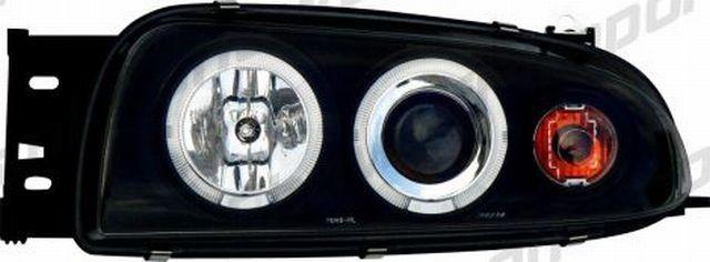 Angel Eyes Scheinwerfer Ford Fiesta mk4 96-99 Schwarz