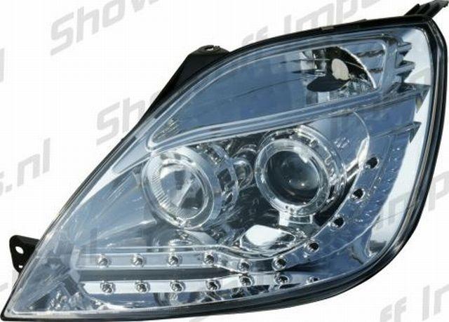 LED Tagfahrlicht Scheinwerfer Ford Fiesta mk6 02-09 R8 Style Chrom