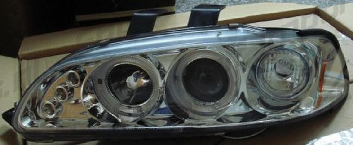 Angel Eyes Scheinwerfer Honda Civic 92-95 4T Chrom V1