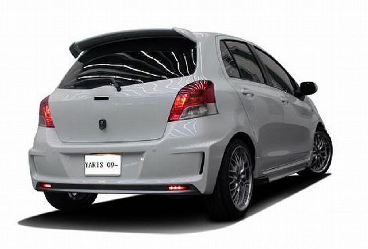 ABS Heckstoßstange Toyota Yaris XP9 Facelift Bj. 09-11, mit LED Leuchten