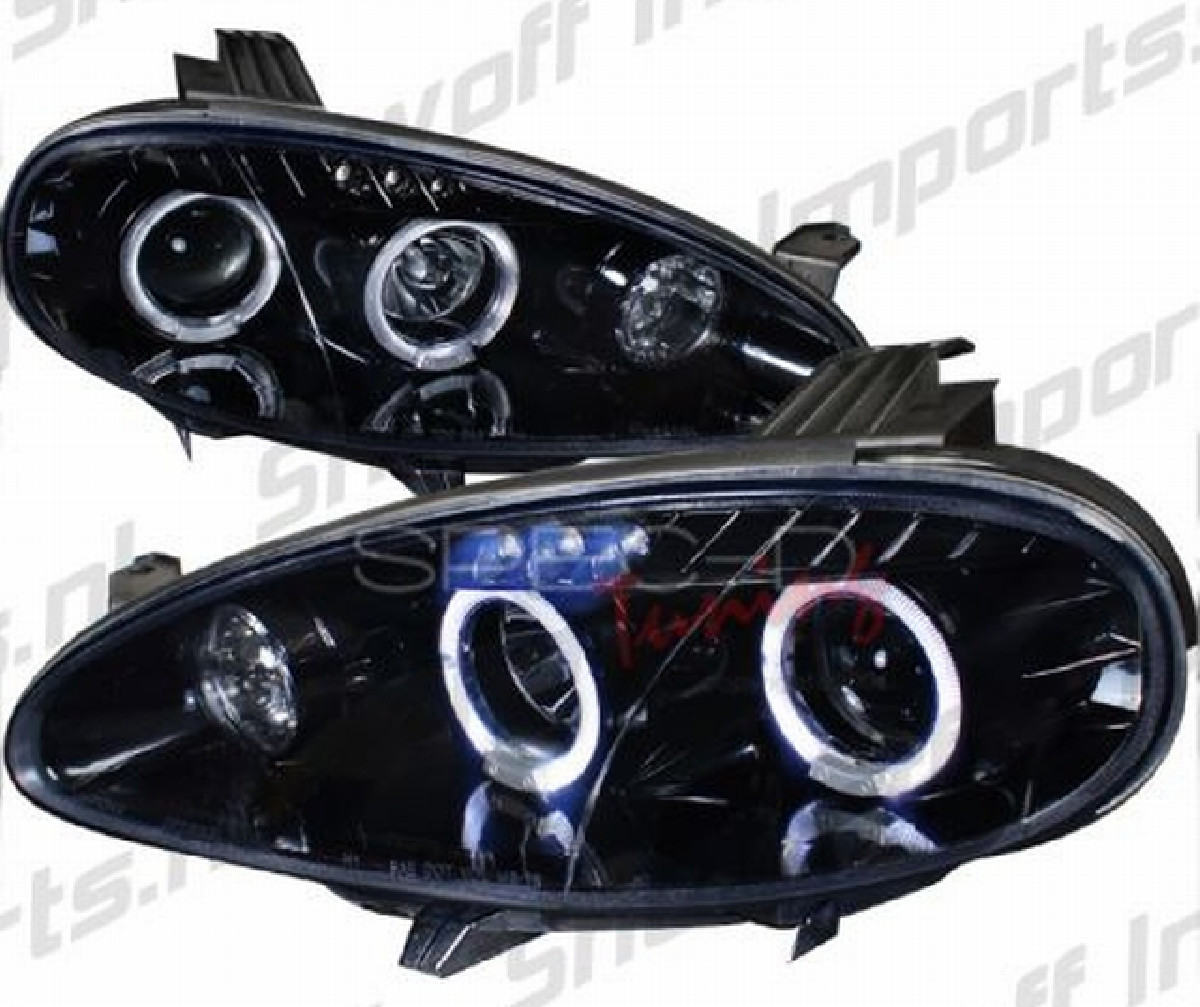 Dual Halo Style LED Scheinwerfer Mazda MX5 NB Facelift 01-05
