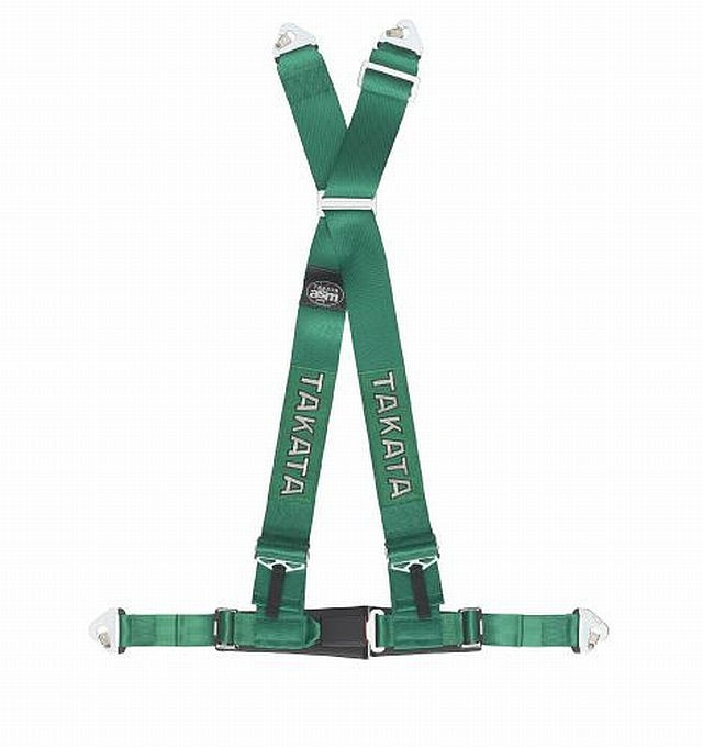 Takata Renn-Sicherheitsgurt DRIFT III 4-Point Green Snap-on