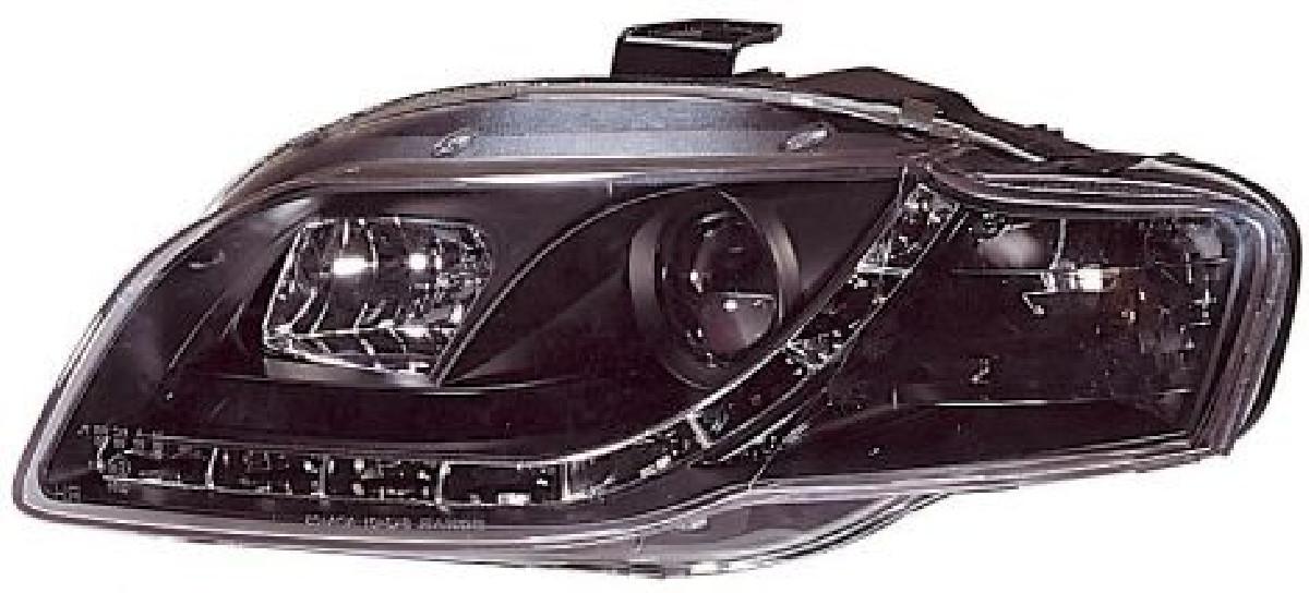 Audi A4 B7 05-08 Headlights Set DRL Black