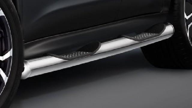 Schwellerrohre mit Trittflächen, Edelstahl  80 mm für Nissan Juke