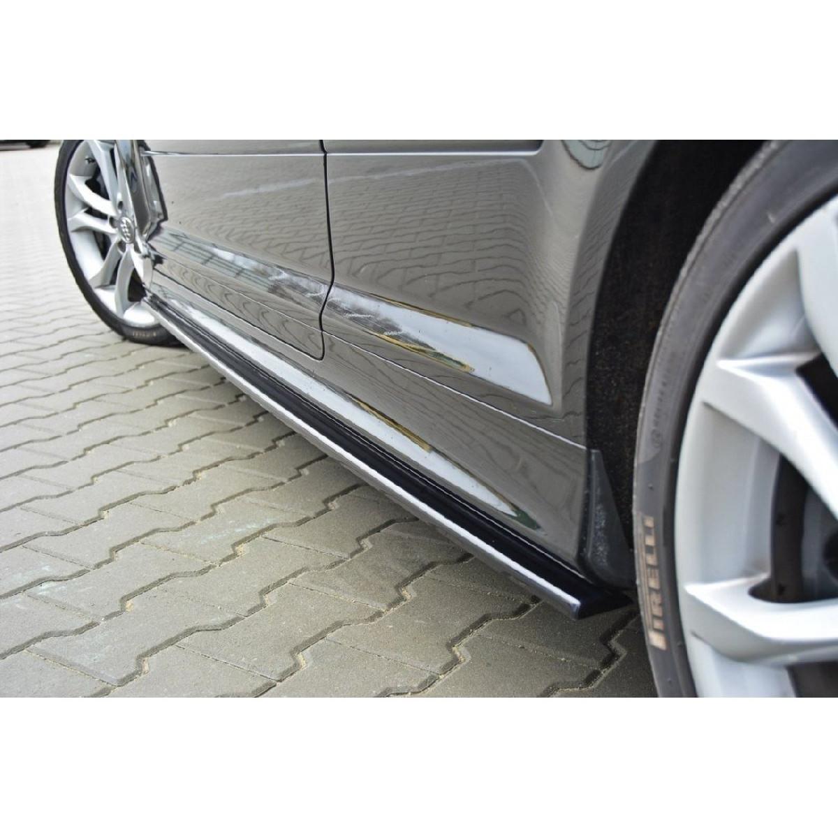 Seitenschweller Ansatz Cup Leisten für Audi S3 8P / S3 8P FL / RS3 8P schwarz matt