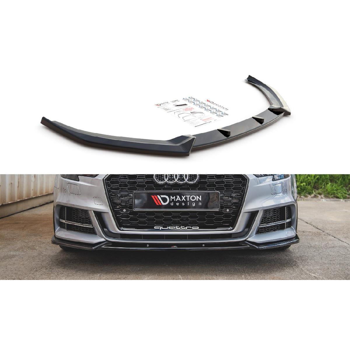 Cup Spoilerlippe Front Ansatz V.3 für Audi S3 / A3 S-Line 8V Facelift schwarz matt