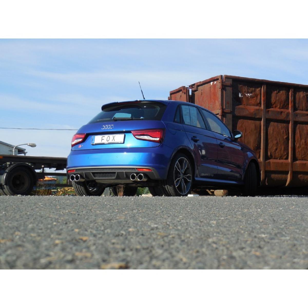 Audi S1 quattro Endschalldämpfer Ausgang rechts/links - 2x90 Typ 12 rechts/links