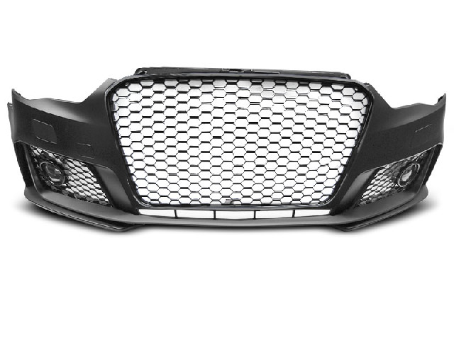 FRONT BUMPER SPORT GLOSSY BLACK fits AUDI A3 12-16
