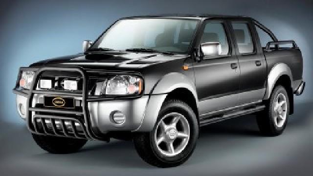 Überrollbügel Stahl schwarz  60 mm für Nissan Pick Up D22