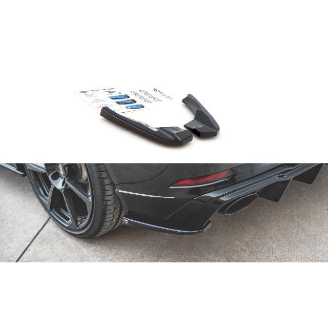 Heck Ansatz Flaps Diffusor V.2 für Audi RS3 8V Sportback Facelift schwarz matt