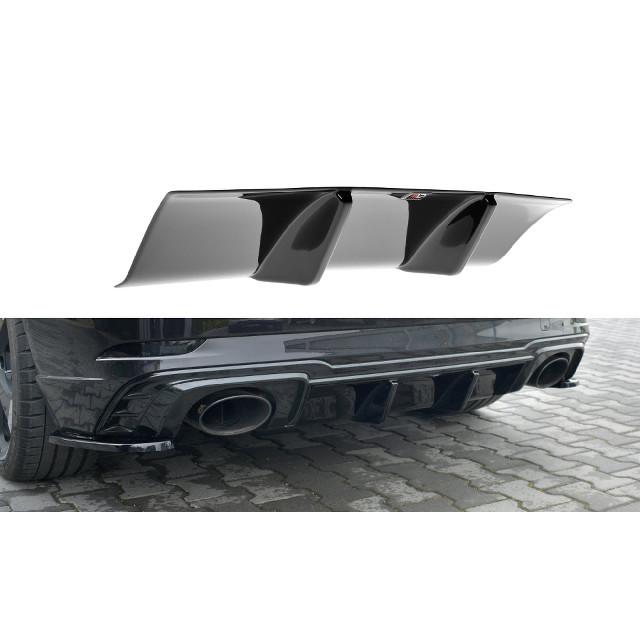 Heck Ansatz Diffusor für Audi RS3 8V FL Sportback schwarz matt