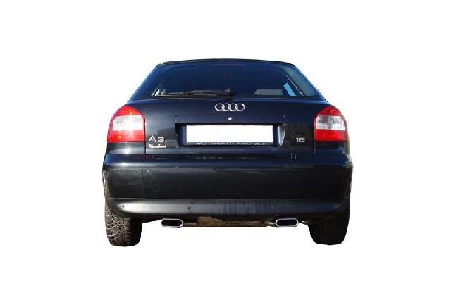 FOX Audi A3 Typ 8L quattro  Endschalldämpfer Ausgang rechts/links Ø 63,5mm - 130x50 Typ 52 rechts/links