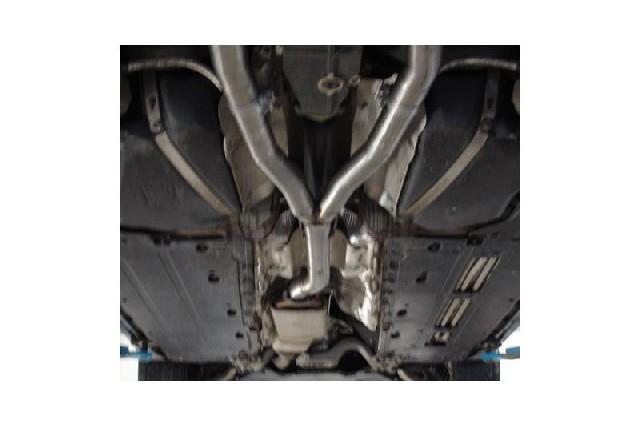 FOX Audi A4 B7 Quattro 3,0l TDI  Y-Verbindungsrohr FOX Endschalldämpfer mit original Vorschalldämpfer