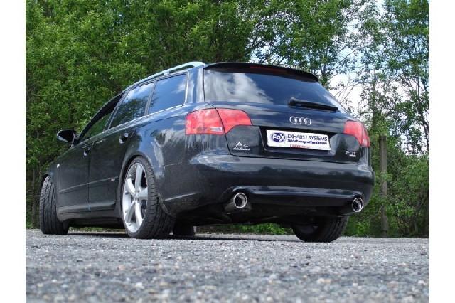 FOX Audi A4 Typ B7 quattro  Endschalldämpfer rechts/links Ø63,5mm - 1x90 Typ 17 rechts/links