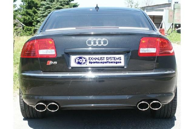 FOX Audi S8 - 4E  Endschalldämpfer rechts/links - 2x115x85 Typ 32 rechts/links