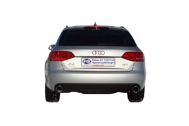 FOX Audi A4/A5 Typ B8 - 2,0l TFSI  Endschalldämpfer rechts/links einflutig inkl. Y-Adapterrohr Ø65mm innen - 1x100 Typ 16 rechts/links