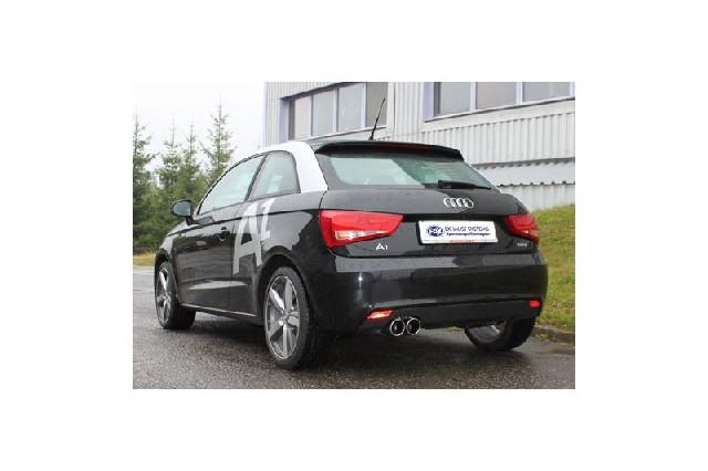 FOX Audi A1  Endschalldämpfer - 2x90 Typ 16