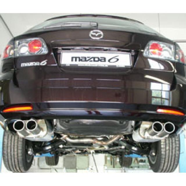 Mazda 6 MK1  Facelift Endschalldämpfer Ausgang rechts/links - 2x80