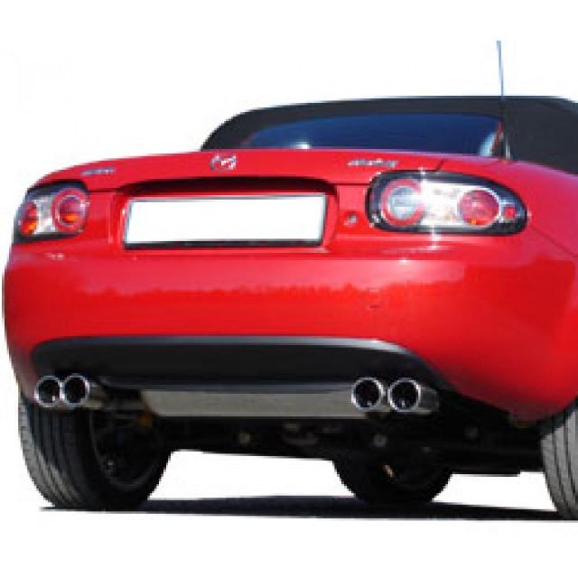 Mazda MX5 Typ NC Endschalldämpfer Ausgang rechts/links - 2x76
