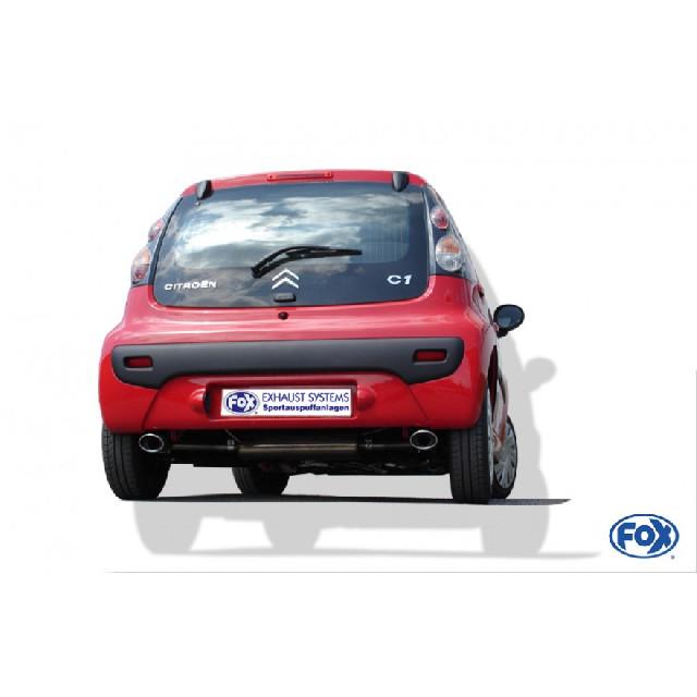 Toyota Aygo Endschalldämpfer Ausgang rechts/links - 106x71