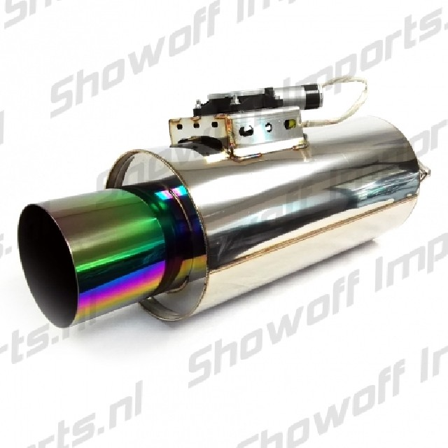 Remote Control Exhaust Muffler With Valve 3